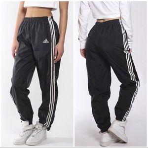 Vintage 90s Adidas windbreaker high track pants